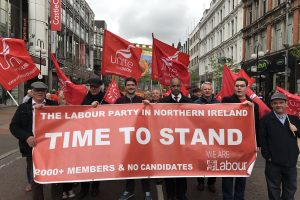 NI Labour Party members campaigning for the right to stand in NI