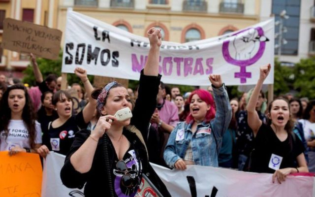 Spain's #ibelieveher protests
