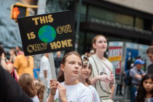Children also participate at People's Climate March, together with Audubon's staff. September 21, 2014. New York, NY.