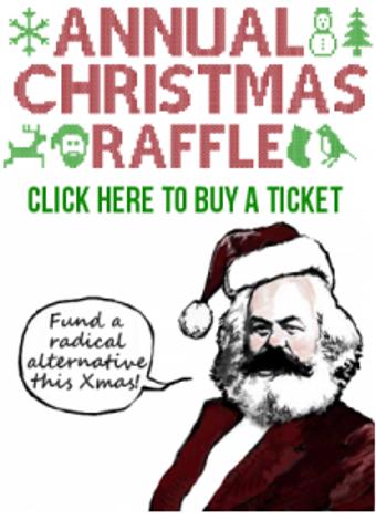 Marx dressed as Santa
