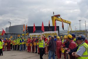 Workers occupy Harland & Wolff – Nationalise the shipyard to save jobs and skills!